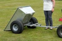 Galvanised Tipping Quad Trailer with Wide Profile Wheels